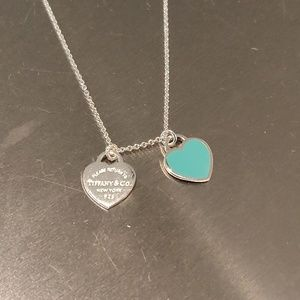 Tiffany Blue Double Heart Necklace